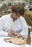Traditionell folk mässa i heder av St Istvan och den första hleten i Ungern med folk hantverkare budapest hungary Fotografering för Bildbyråer