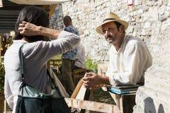 Traditionell folk mässa i heder av St Istvan och den första hleten i Ungern med folk hantverkare budapest hungary Royaltyfria Foton