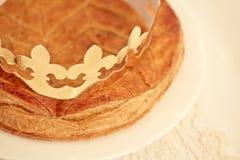 Traditionell fransk tårta, Galette des Rois Fotografering för Bildbyråer