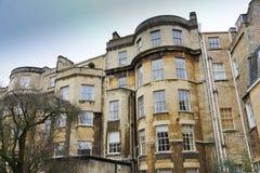 Traditionell gammal England arkitektur, bad, UK Royaltyfria Foton