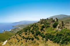 Traditionell gammal by i Grekland Royaltyfri Foto