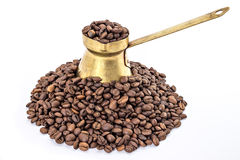 Traditionell gammal kaffekruka Royaltyfri Bild