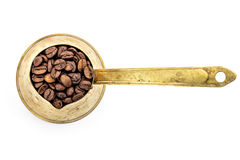Traditionell gammal kaffekruka Arkivbild