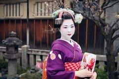 Traditionell Geisha arkivbilder