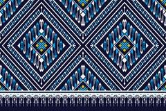 Traditionell geometrisk etnisk modell stock illustrationer