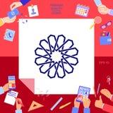 Traditionell geometrisk orientalisk arabisk modell ditt designelement logo Royaltyfria Bilder