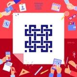 Traditionell geometrisk orientalisk arabisk modell ditt designelement logotyp Arkivbilder