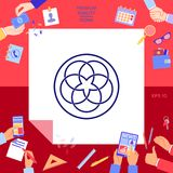 Traditionell geometrisk orientalisk arabisk modell logo ditt designelement Arkivfoton