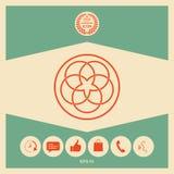 Traditionell geometrisk orientalisk arabisk modell logo ditt designelement Fotografering för Bildbyråer