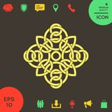 Traditionell geometrisk orientalisk arabisk modell - logo ditt designelement Arkivfoto
