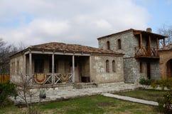 Traditionell georgian arkitektur i Mtskheta, Georgia Arkivbild