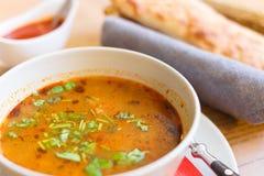 Traditionell georgisk soppa Kharcho arkivfoto