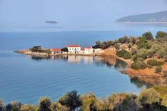traditionell greece huspilio royaltyfri bild