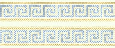 traditionell greece prydnad stock illustrationer