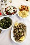 Traditionell grekisk mat Arkivbilder