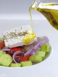 traditionell grekisk sallad arkivbilder