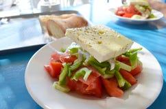traditionell grekisk sallad Arkivbild