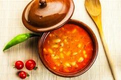 traditionell grekisk soup för bönamat Royaltyfri Bild
