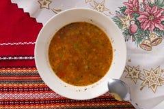 traditionell grekisk soup för bönamat Arkivfoton