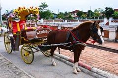 Traditionell hästvagn Fotografering för Bildbyråer