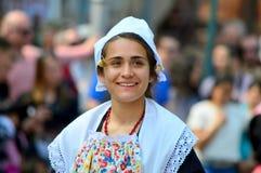 Traditionell holländsk dansare Fotografering för Bildbyråer
