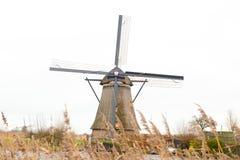 Traditionell holländsk väderkvarn Fotografering för Bildbyråer