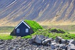 Traditionell icelandic kabin royaltyfri bild