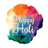 Traditionell indisk ferie Färgrik Holi festivalbakgrund Arkivfoton