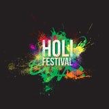 Traditionell indisk ferie Färgrik Holi festivalbakgrund Arkivbild