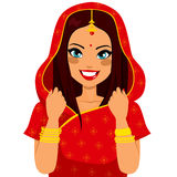 Traditionell indisk kvinna Arkivbilder