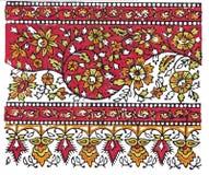 traditionell indisk textil för design Arkivbilder
