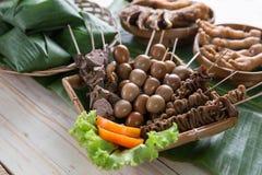Traditionell indonesisk kulinarisk mat Arkivfoto