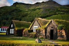 Island Skógar, hus Royaltyfri Bild