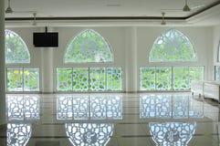 Traditionell islamisk geometrisk modell av en moské i Bandar Baru Bangi fotografering för bildbyråer