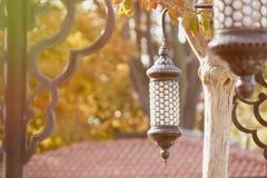 Traditionell islamisk ramadan lykta Arkivbild