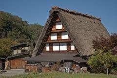 Traditionell japansk arkitektur, Shirakawa-går, Japan Arkivfoton