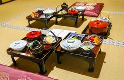 Traditionell japansk buddistisk munk Meal royaltyfri foto