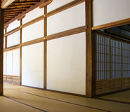 Traditionell japansk inre & x28; Kyoto Japan& x29; Fotografering för Bildbyråer