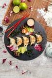 Traditionell japansk mat, stekte klimpar med grönsaker Royaltyfria Foton