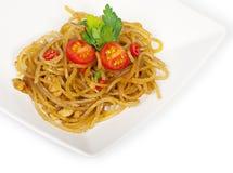 Traditionell japansk maträtt av pasta arkivfoto