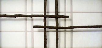 traditionell japansk skärm Arkivfoto