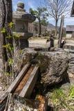Traditionell japansk springbrunn Royaltyfri Fotografi