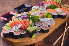 Traditionell Japonese mat arkivbild
