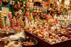 Traditionell julmarknad Royaltyfri Fotografi