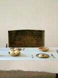 traditionell kökinställning arkivbild