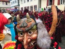 Traditionell karneval i den södra Tyskland - swabian-Alemannic Fastnacht Royaltyfri Foto