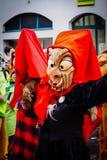 Traditionell karnevalmaskering som göras av trä royaltyfri fotografi