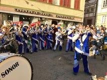 Traditionell karnevalmusik i Tyskland Royaltyfri Fotografi
