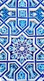 Traditionell keramisk uzbekprydnad Arkivbild