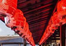 Traditionell Kina lykta eller röd lampa Arkivfoto